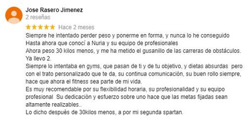 Jose Testimonio sobre personal trainer en sevilla